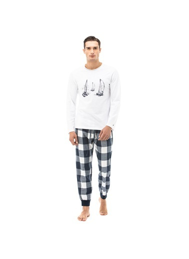 Nautica Pijama Takım Beyaz